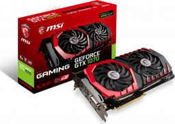 Karta graficzna MSI GeForce GTX 1070 Gaming 8GB GDDR5 (256 Bit) HDMI, DVI-D, 3xDP (GTX 1070 Gaming 8G)