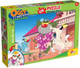 Lisciani Puzzle dwustronne 108 Oggy i Karaluchy (304-54107)