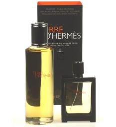 HERMES Terre D Hermes Parfum M 125ml  30ml z możliwością napełnienia + 125ml perfumy – wkład