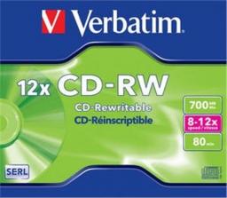 Verbatim CD-RW 80/700MB 12X SCRATCH RESISTANT jewel box (43148)