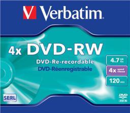 Verbatim DVD-RW 4.7GB 4X MATT SILVER (43285)