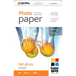 ColorWay Photo papier  High Glossy  A4, 180g/m, 50 stron (PG180050A4)