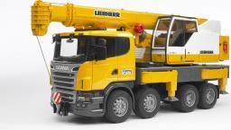 Bruder Scania R Dźwig Liebherr  z modułem sygnalizacyjnym (03570)