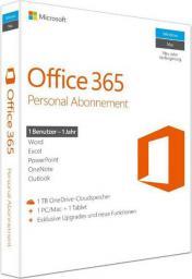 Microsoft Microsoft Office 365 Personal English EuroZone 1YR P2 (QQ2-00543)