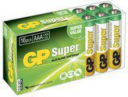 GP Battery SUPER ALKALINE AAA/LR03 (AAA 16-P 24A)