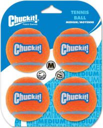 Chuckit! TENNIS BALL MEDIUM 4PK (57404)