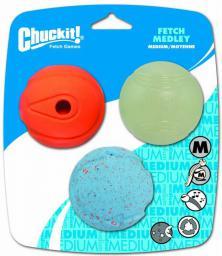 Chuckit! FETCH MEDLEY ASST MEDIUM 3PAK (520520)