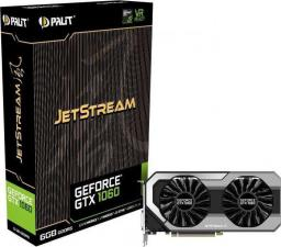 Karta graficzna Palit GeForce GTX 1060 JetStream 6GB GDDR5 (192 Bit) DVI, HDMI, 3xDP, BOX (NE51060015J9J)
