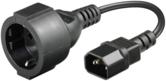 Kabel zasilający MicroConnect Adapter  C14 -Schuko, 0.23m (PE130075)