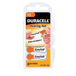 Duracell A13/DA13/ZL13, Zinc air cells, 6 sztuk (2928)