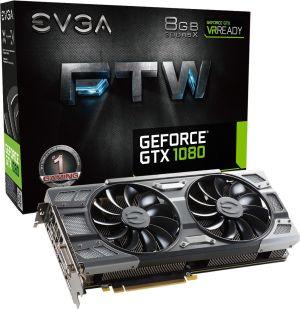 Karta graficzna EVGA Karta graficzna EVGA GeForce GTX 1080 FTW Gaming ACX 3.0 8GB GDDR5X (256 Bit) DVI-D, 3xDP, HDMI, BOX (08G-P4-6286-KR)