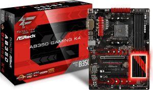 Płyta główna ASRock AB350 GAMING K4, B350, DDR4, USB3.0, SATA3, ATX