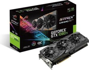 Karta graficzna Asus GeForce GTX 1080 TI 11GB GDDR5X (352 BIT) DVI-D, 2x HDMI, 2x DP, BOX (ROG-STRIX-GTX1080TI-11G-GAMING)