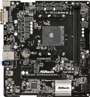 Płyta główna ASRock A320M-DGS, A320, DDR4, SATA3, USB3.0, uATX (90-MXB5A0-A0UAYZ)