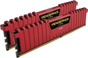 Pamięć Corsair Vengeance LPX DDR4, 8GB(2x4GB), 3000MHz, CL15, Red (CMK8GX4M2B3000C15R)