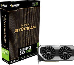 Karta graficzna Palit GeForce GTX 1060 Super JetStream 6GB GDDR5 (192 bit) 3x DP, HDMI, DVI (NE51060S15J9J)