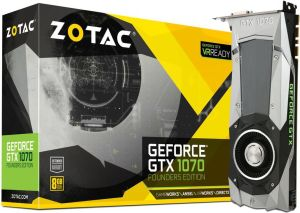 Karta graficzna Zotac GeForce GTX 1070 Founders Edition 8GB GDDR5 (256 bit) HDMI, DVI, 3x DP, BOX (ZT-P10700A-10P)