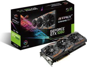Karta graficzna Asus GeForce GTX1080 Advanced 8GB GDDR5 (256-Bit) DVI, 2xHDMI, 2xDP, BOX (STRIX-GTX1080-A8G-GAMING)