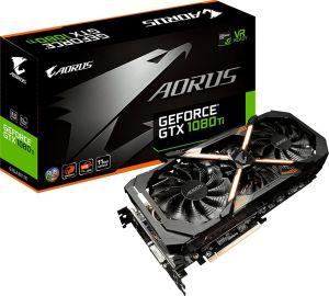 Karta graficzna Gigabyte GeForce GTX 1080 Ti AORUS 11GB GDDR5X (352 bit), DVI-D, 3xHDMI, 3xDP, BOX (GV-N108TAORUS-11GD)