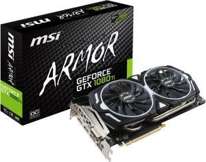 Karta graficzna MSI GeForce GTX 1080 Ti ARMOR OC 11GB GDDR5X (352 bit), DL-DVI-D, 2x HDMI, 2x DP, BOX (1080 Ti ARMOR 11G OC)
