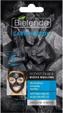 Bielenda Carbo Detox Oczyszczająca maska węglowa do cery suchej i wrażliwej 8g