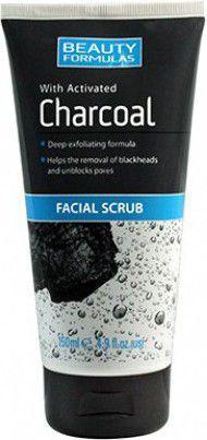Beauty Formulas Charcoal Peeling do twarzy głęboko oczyszczający z aktywnym węglem 150ml