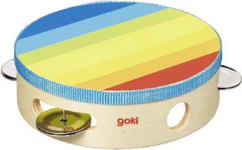 Goki Kolorowy tamburyn, zabawka muzyczna (GOKI-61920)