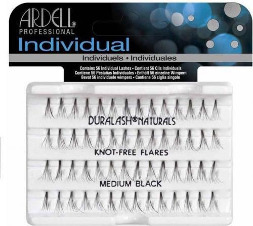 Ardell Individual Medium Black - kępki sztucznych rzęs 56 szt