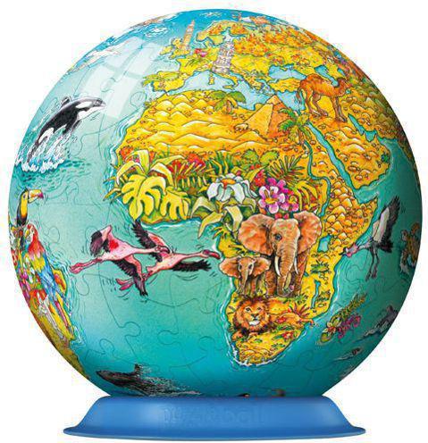 Ravensburger Puzzle kuliste Świat dla dzieci 108 elementów