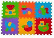 Babyono 277-PUZZLE PIANKOWE 6 SZT ZWIERZĘTA (ON-1274)