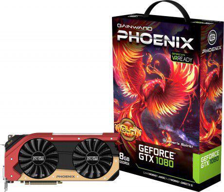 Karta graficzna Gainward GeForce GTX 1080 Phoenix GLH 8GB GDDR5X (256 Bit) DVI-D, 3xDP, HDMI, BOX (426018336-3668)
