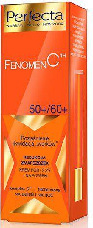 """Perfecta Perfecta Fenomen C 50+/60+ Krem pod oczy i na powieki  Rozjaśnienie,likwidacja """"worków"""",redukcja zmarszczek  15ml"""