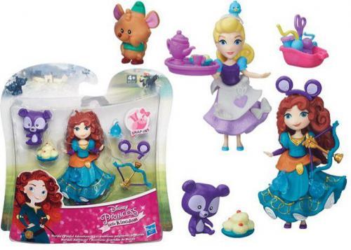 Hasbro DISNEY PRINCESS Mini laleczka z przyjacielem (B5331)