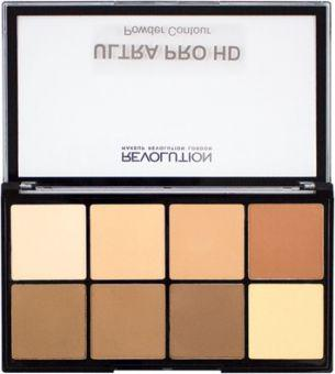 Makeup Revolution HD Pro Powder Contour Paleta do konturowania twarzy Medium Dark 20g