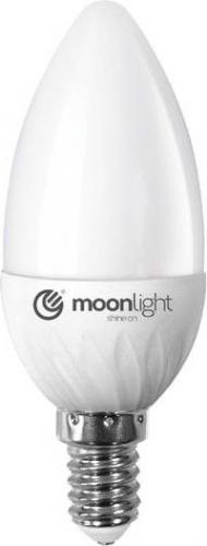 Moonlight E14, 5W, 405lm, ciepła, 37mm/100mm (ML-C37-5W-CB)
