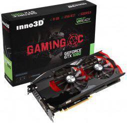 Karta graficzna Inno3D GTX1080 Gaming OC 8GB GDDR5X (256 Bit) DVI, HDMI, 3xDP, BOX (N1080-1SDN-P6DNX)