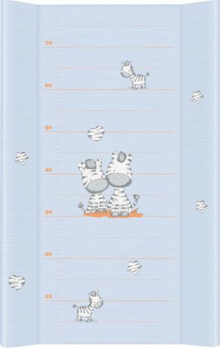 Ceba Przewijak krótki 50x70cm, Zebra, niebieska (000488)