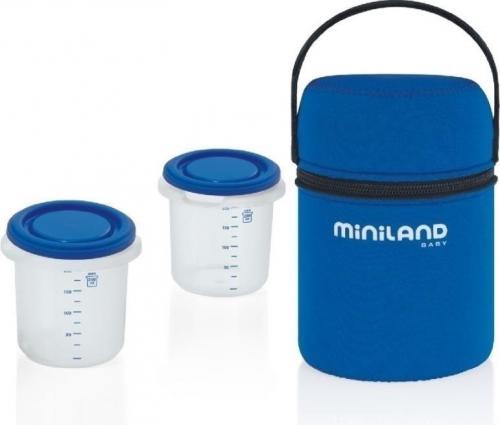 Miniland Torba izotermiczna z dwoma pojemnikami hermetycznymi, 250 ml (000224)