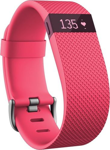 Smartband Fitbit Opaska fitness monitor aktywności Charge HR Fitbit Pink roz. L (FB405PKL)