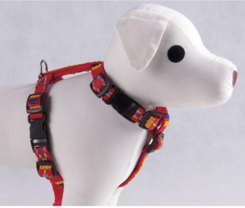Dino Szelki taśma żakardowe dla psa 16mm/50cm Czerwony