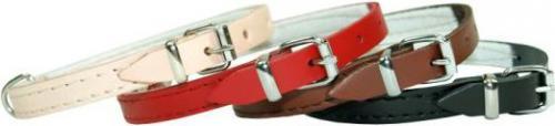 Dino Obroża skórzana  12mm/32cm czerwona