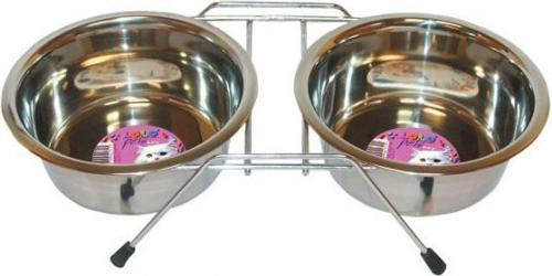Lolo Pets Classic Dwie miski na stojaku Lolo Pets 0,22l