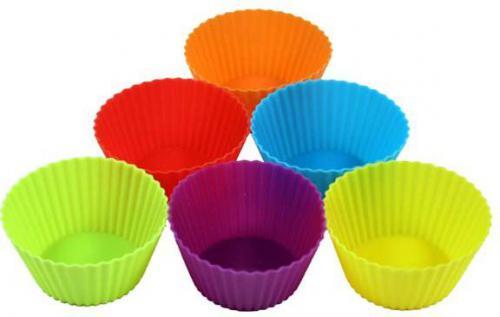 Forma silikonowa do muffinek, 7.5 x 3.5cm, color, 6szt
