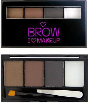 Makeup Revolution I Heart Makeup Brows Kit Zestaw do makijażu brwi Bold Is Best  3g