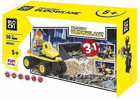 ICOM Blocki - 3w1 Pojazdy budowlane 50el. (KB6091)