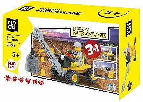 ICOM Klocki Blocki -  3w1 Pojazdy budowlane 51el. (KB6112)