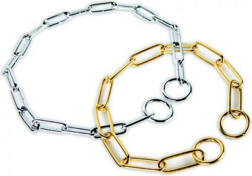 Dingo obroża łańcuchowa zaciągana chrom ø 3,8 mm dł. 60 cm