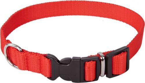 Dingo obroża z taśmy polipropylenowej z zapięciem plastikowym, regulowana, szer. 2,0 cm  dł. 33-49 cm czerwona