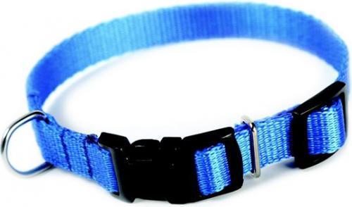 Dingo obroża z taśmy polipropylenowej z zapięciem plastikowym, regulowana, szer. 2,0 cm  dł. 33-49 cm niebieska