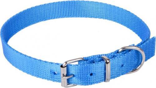 Dingo obroża z taśmy polipropylenowej, pojedyncza szer. 1,0 cm dł.30 cm ( 20-25 cm ) niebieska